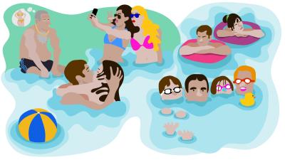 Dampfende Evolution imSchwimmbecken